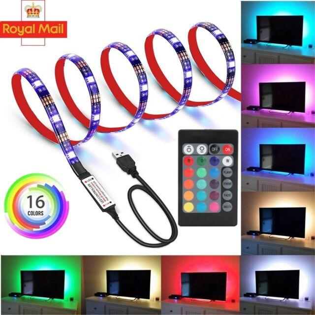 1~5m 2835 USB Cable LED Strip Lights SMD Tape TV Cabinet Kitchen Lighting IP65
