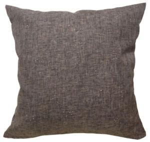 Qc208a Black Coffee Sparkle Silver Cotton Blend Cushion Cover*Custom Size*