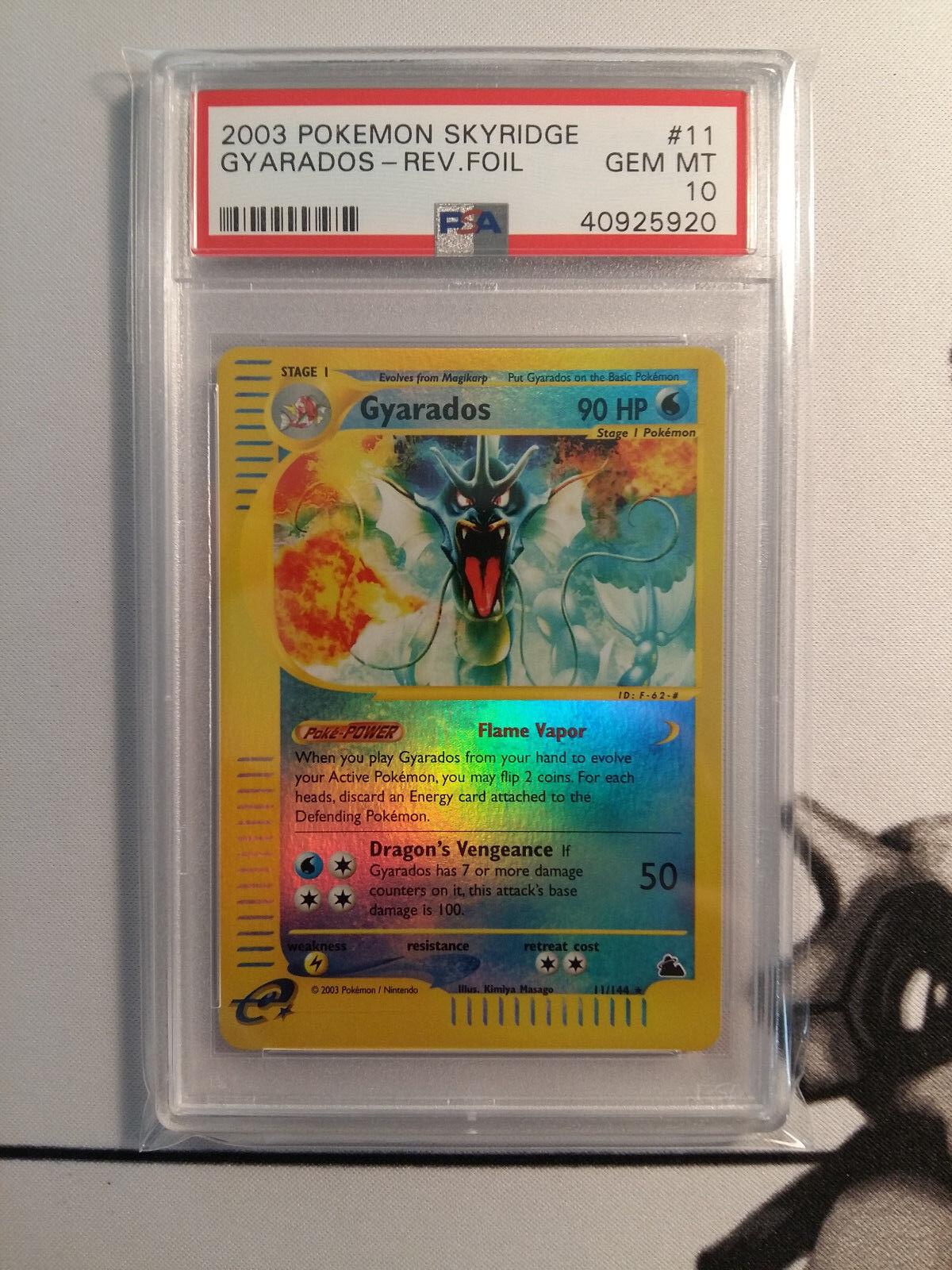 Pokemon 2003 Skyridge Gyarados 11 144 Reverse Holo Foil Foil Foil PSA 10 GEM MINT 7378bc