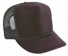 Blank Solid Brown Mesh Snap Back Cap Trucker Mesh Hat