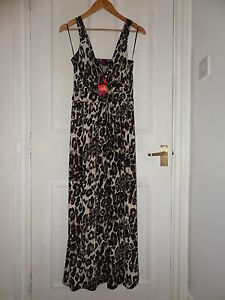 NEW-Holiday-Summer-Animal-Print-Dress-Size-UK-10-EU-S