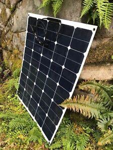 Details about 95 Watt Sunpower semi flexible solar panel  33 volt output  for e-bikes etc