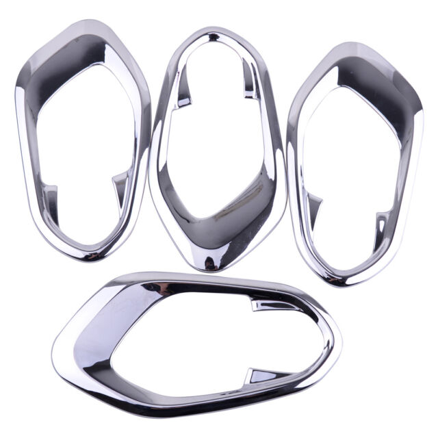4pcs Chrome Interior Door Handle Bowl Trim Cover Fit For Jeep Cherokee 2014-2017