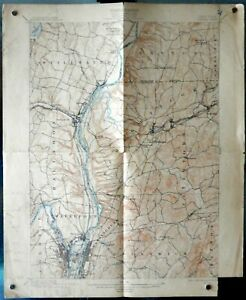 Details about VINTAGE TOPOGRAPHICAL MAP - NEW YORK - COHOES SHEET - US  GEOLOGICAL SURVEY 1898
