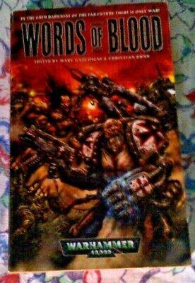 Liberale Warhammer 40k Parole Di Sangue Nero Libreria Racconti Marc Michel In Buonissima Condizione-mostra Il Titolo Originale