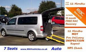 2011 11 VW CADDY MAXI 1.6 C20 LIFE TDI 5D AUTO  7 SEATS + WHEELCHAIR ACCESSIBLE