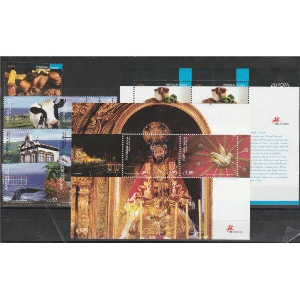 2005 Azores Arcores AnnÉe ComplÈt 7 Valeurs + 2 Bf Mnh Mf58260