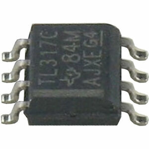 10-St-TS317C-LM317C-DC-U-Regler-variabel-1-25-37V-0-1-A-Texas-Instr-8-plg-SMD