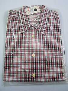 5e955c2993 Levi s Checked Shirt Men s Large Unworn 1990s Red White Blue NWT Vtg ...