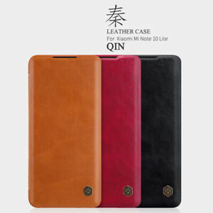 NILLKIN-QIN-ultra-mince-Flip-Leather-Card-Case-Cover-Pour-Xiaomi-Mi-Note-10-Lite