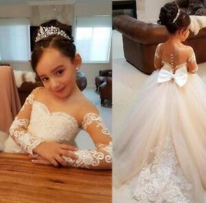 Nouveau élégant longue dentelle Robe de Mariage