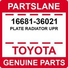 New Genuine OEM P radiator upper air guide 1668136021 16681-36021 Toyota Plate
