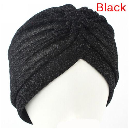 Mode Männer Frauen Dehnbar Weichen Indischen Stil Turban Hut Kopf Wickelband  cx