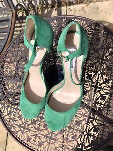 LK Bennett Green Suede High Heel Shoes