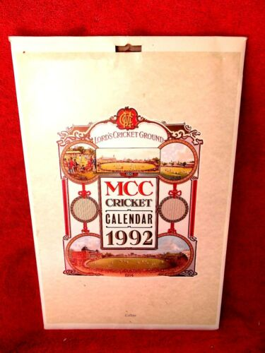 COLLINS MCC CRICKET 1992 CALENDAR WITH 12 HISTORIC CRICKET PRINTS