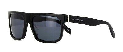 2019 Moda Alexander Mcqueen Am0037s 002 Black Sunglasses Sonnenbrille Lenti Grigio 56mm-mostra Il Titolo Originale