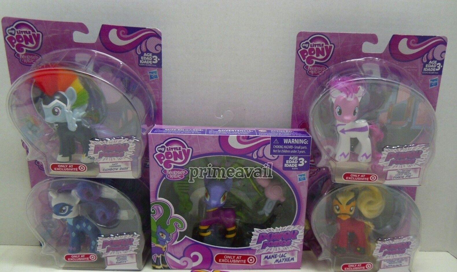 Mycket av fem mina små poNew Set Power Ponies