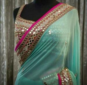 .Bollywood Festival Indian Party Wear Wedding Evening Designer Bridal Saree Sari