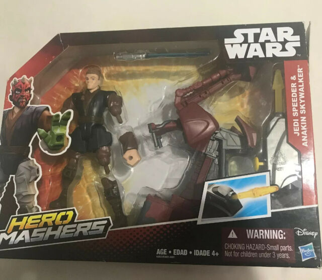 Disney Hasbro Star Wars Hero Mashers JEDI SPEEDER ANAKIN SKYWALKER New Boxed Toy