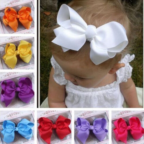 Multi-Color Grosgrain Ribbon Bow Hair Clip Pin Cute Hairwear for Baby Kids Girls
