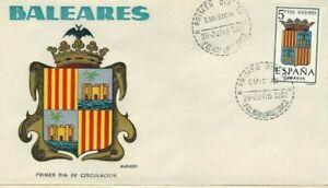 FDC-Erste-Dia-Spanien-1962-Wappen-Balearen