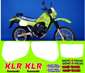 KAWASAKI-KLR600-ADESIVI-stickers-aufkleber-autocollant-WELCOME-INTERNAT-BUYERS