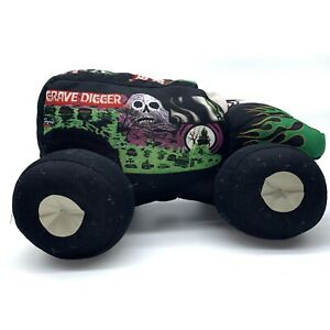 MONSTER-JAM-10-GRAVE-DIGGER-PLUSH-Green-4-Time-Cham-Bad-To-The-Bone-2013