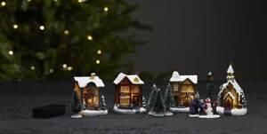 Led Weihnachtsszene Weihnachtsdorf 11 Teile Hauser Warmweisse Leds