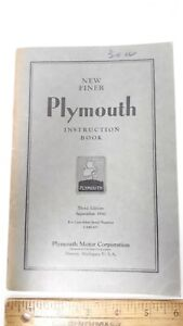 1930-31-PLYMOUTH-Original-Owner-039-s-Manual-Excellent-Condition-US
