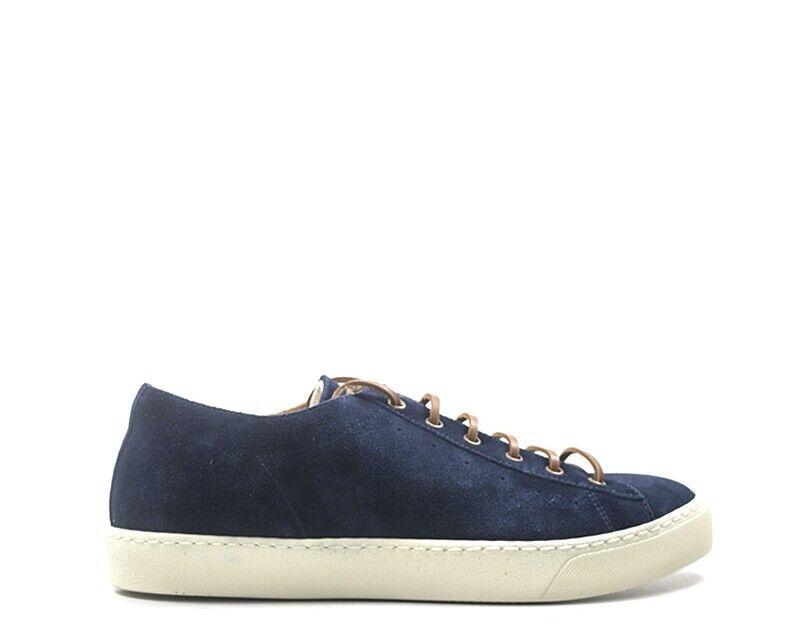 Chaussures D 'Acquasparta Homme bleu Daim Faible-suede-BL