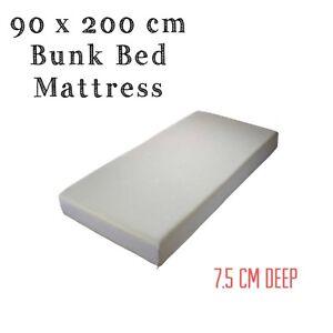 90 X 200 Cm Bunk Bed Reflex Foam Mattress Washable Zipcover 3 Inch