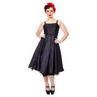 Hell Bunny 4560 Black Prom Goth VTG Party Dress