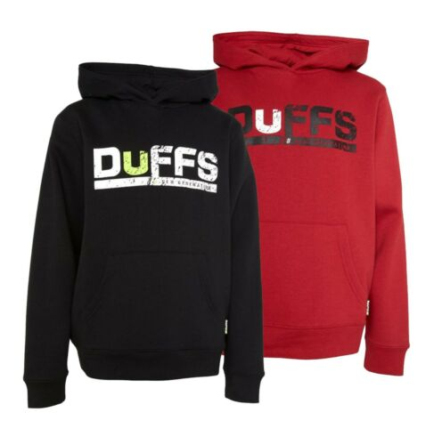 Boys DuFFS Long Sleeve Brushback Fleece Overhead Hoodie Sizes Age from 5 to 13