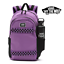 thumbnail 1 - VANS Strand Skate Pack Backpack with Skate Board Straps -- Dewberry Purple Black
