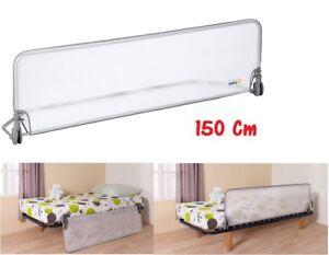 Safety barriera sponda protezione letto cm 150 extra large anticaduta lettino ebay - Protezione letto ...