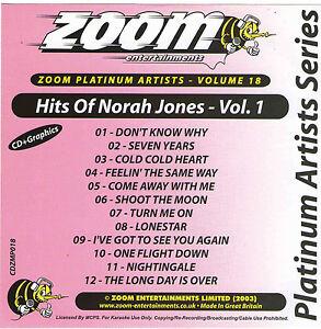 Zoom Karaoke Cdg Platinum Artist Series Vol 18 Hits Of Norah Jones 12 Tracks Karaoke Entertainment