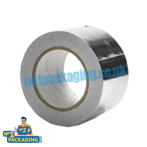 3 Rolls 48mm x 45m Aluminium Foil Self Adhesive Quality Heat Insulation Tape