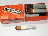 7 Micro 100 Bl-6 Bl6 Super Carbide Tipped Brazed Tool Bits Zinc 15deg Angle