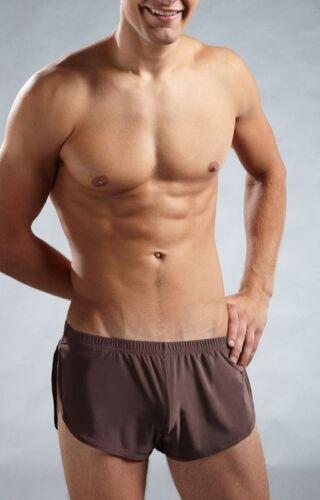 "#246 Waist  28/"" to 43/"" Men/'s silky Side Open Boxer Shorts Underwear Size"