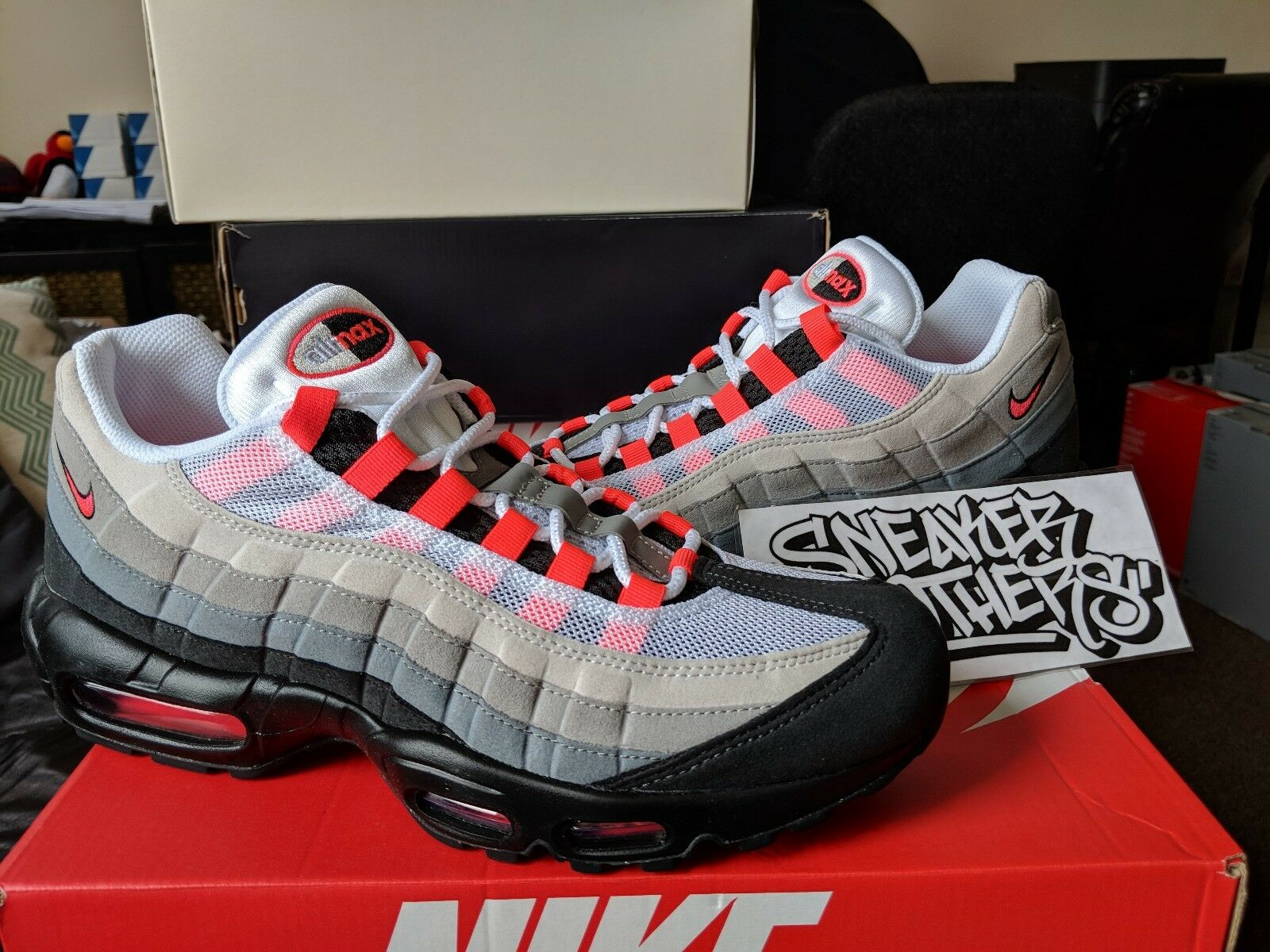 Nike Air Max 95 OG 2018 Solar Red Neutral Grey White Pink Infrared 609048-106