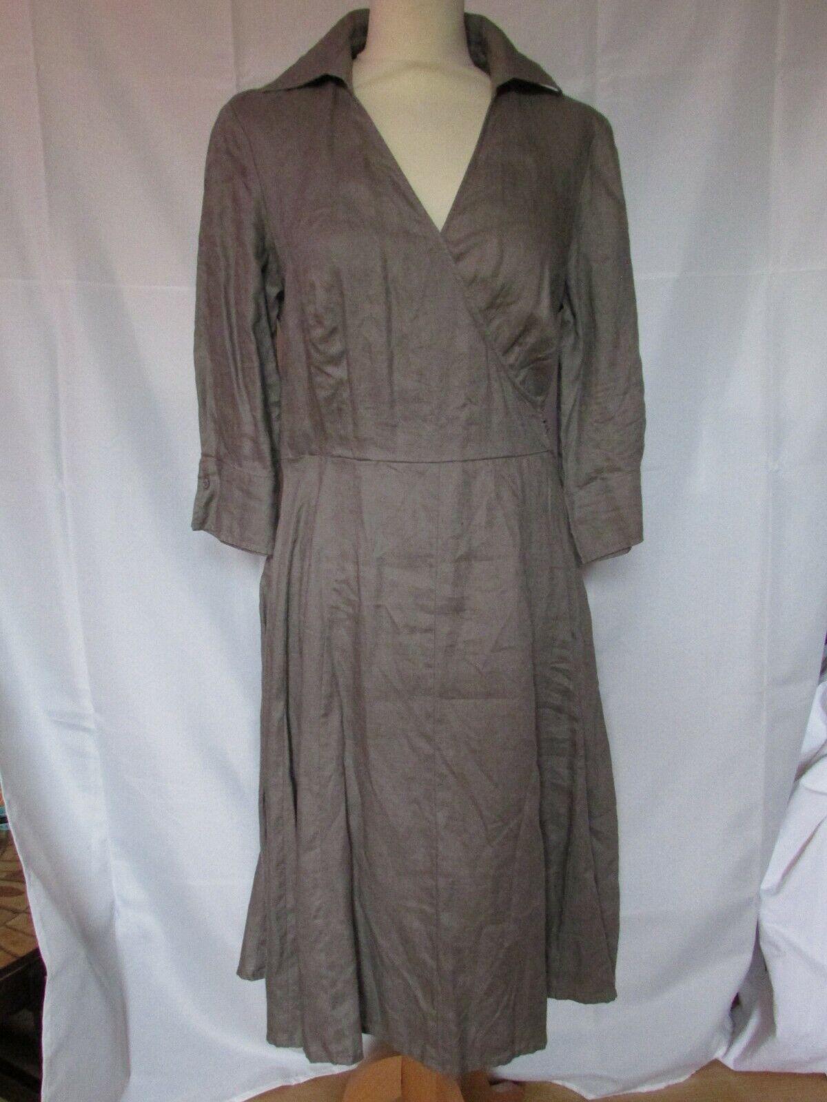 Dress madeleine size 42 linen taupe