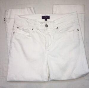 NYDJ-Corto-Pantalones-Capri-Blanco-Mujer-0-Push-Up-Pliegue-NO-TU-Daughters-Jeans