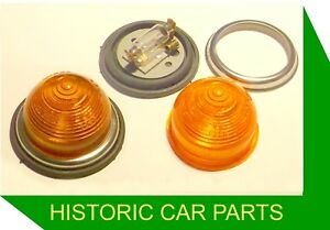 2-Beehive-Amber-INDICATOR-LAMPS-21-watt-12-volt-Flush-Fitting-Durite-12v-21-w
