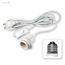 Cavo con montatura E27 lampada + Interruttore 3,5m alimentazione spina-Euro E-27