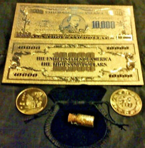 "/<X/>MINT GEM CONDITION/>1899 /""GOLD/"" BISON Banknote W// COA~ US SELLER~FAST SHIPPING"