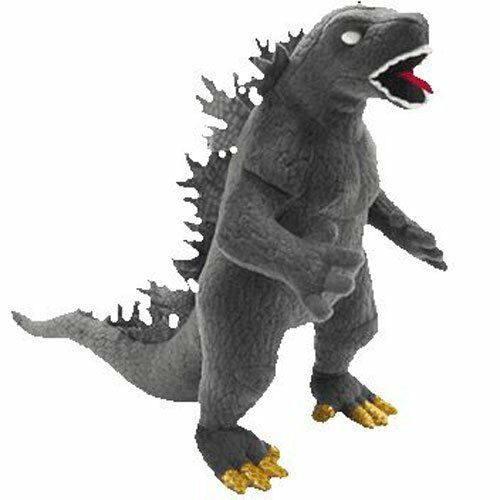 Classic Beanie bebiss Godzilla Plush Doll (vit Eye) uppstoppad leksak japan F  S