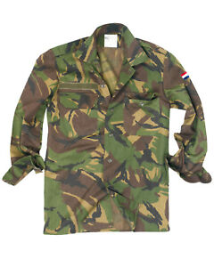 Genuine-Dutch-Army-Issue-Military-Camouflage-DPM-Camo-Field-Shirt-GRADE1