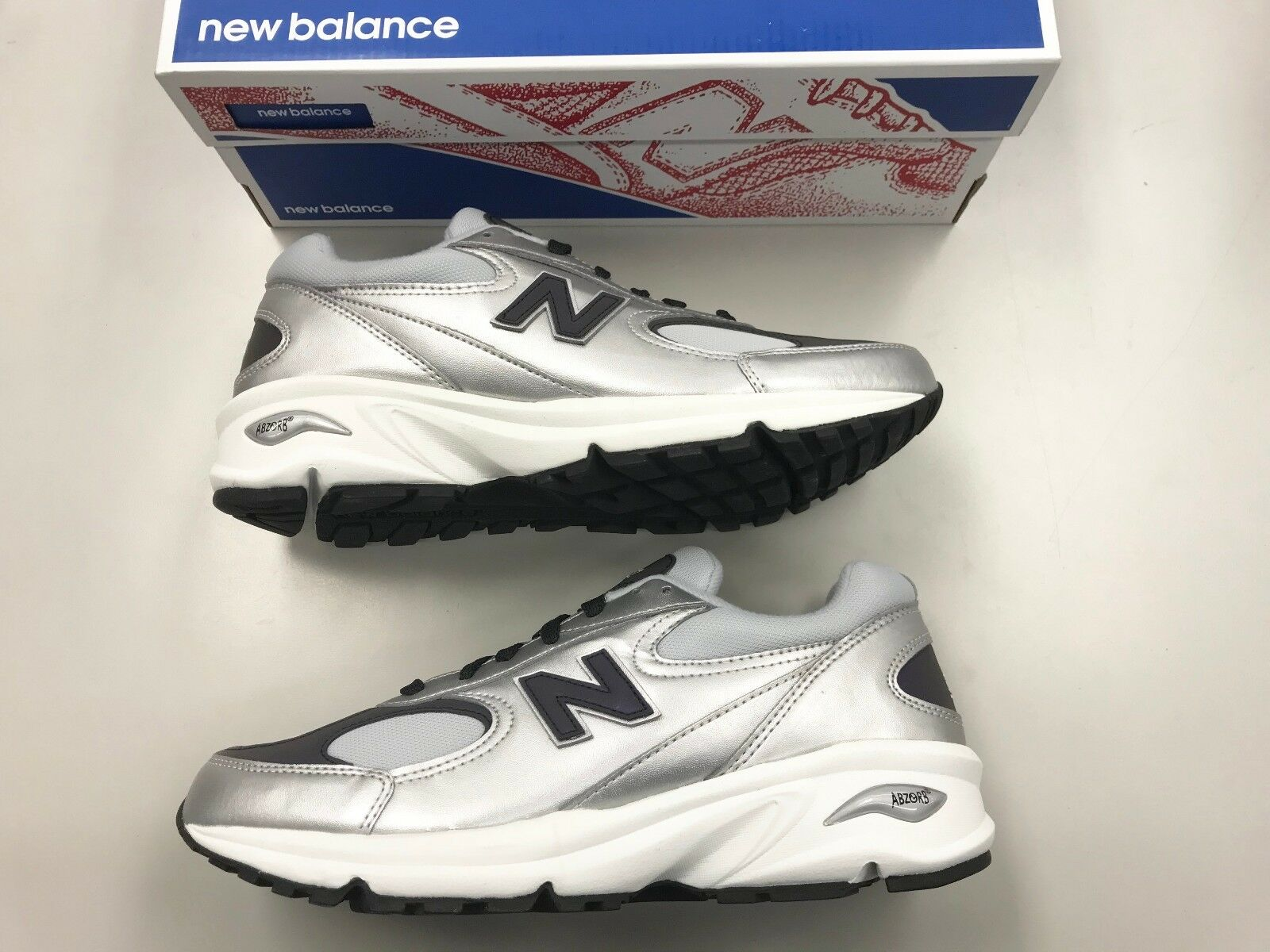 separation shoes 8d645 a8c5f Brand New Men New Balance M498 M498 M498 SL Silver Leather running walking  shoes 0 9