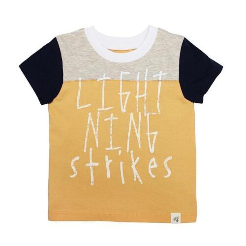 Burt/'s Bees Kids Organic Cotton Lightning Strikes Tee 2T 3T /& 4T Apricot