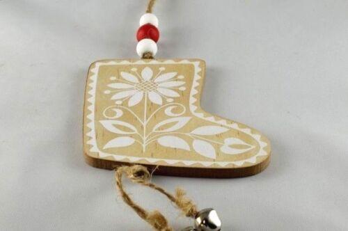 Wooden Christmas Tree Decorations Beautiful Tree Santa Star Santa/'s Boot ...